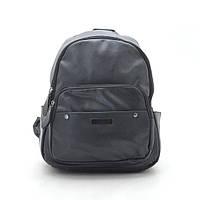 Рюкзак женский черный, мягкий кожзам 192349, фото 1