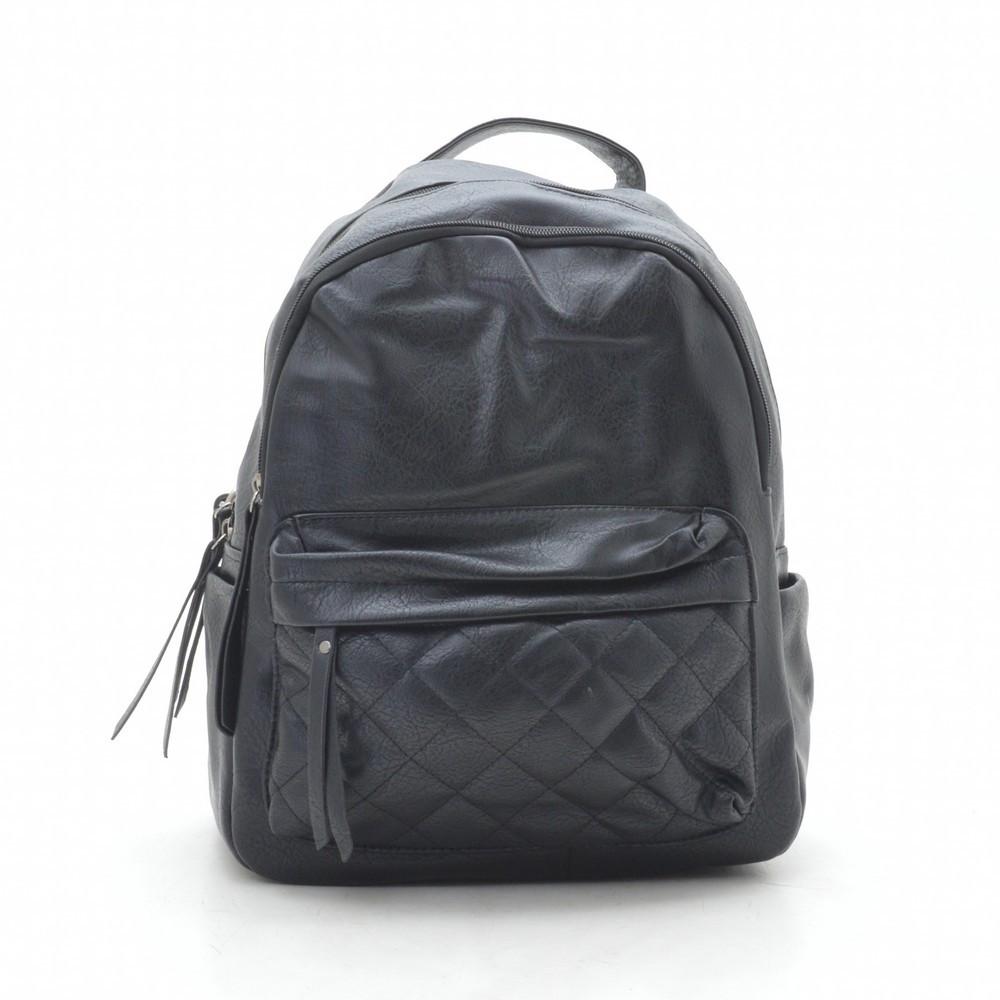 Рюкзак женский черный, мягкий кожзам 192368