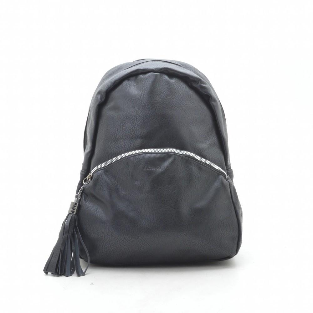 Рюкзак женский черный, мягкий кожзам 192444