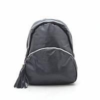 Рюкзак женский черный, мягкий кожзам 192444, фото 1