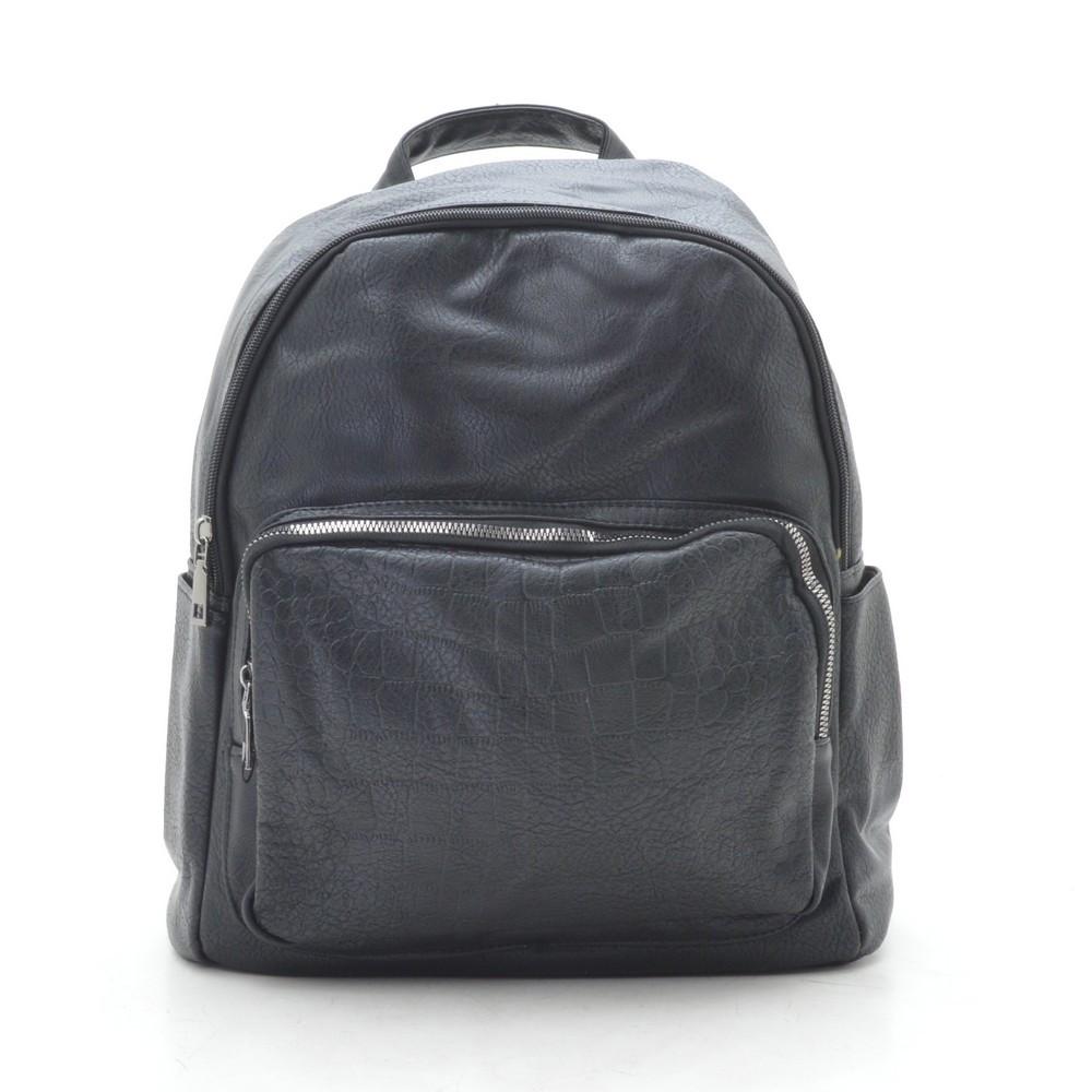 Рюкзак женский черный, мягкий кожзам 192454