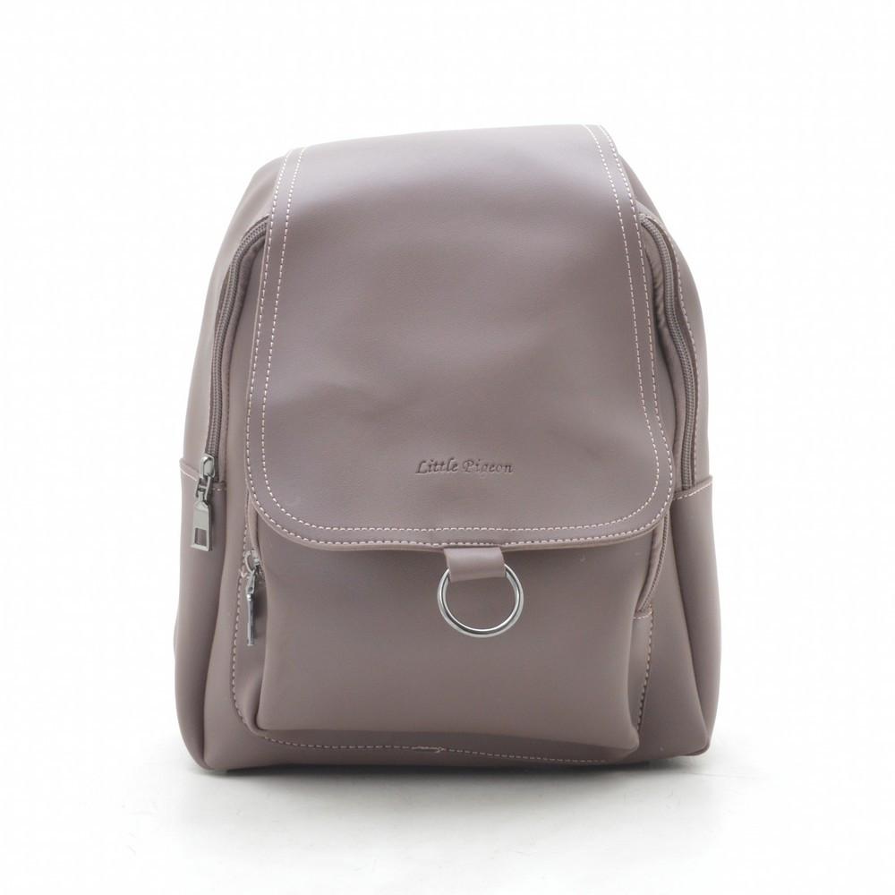 Рюкзак женский фиолетовый, мягкий кожзам 192459