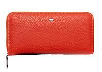 Женский кожаный кошелек -визитница 20*10*3 оранжевый, фото 1