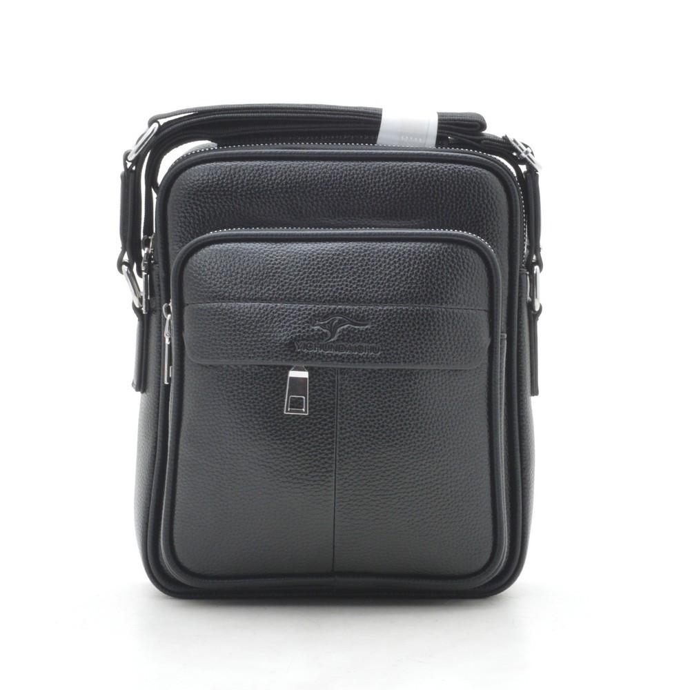 Мужская сумка черная через плечо 186394