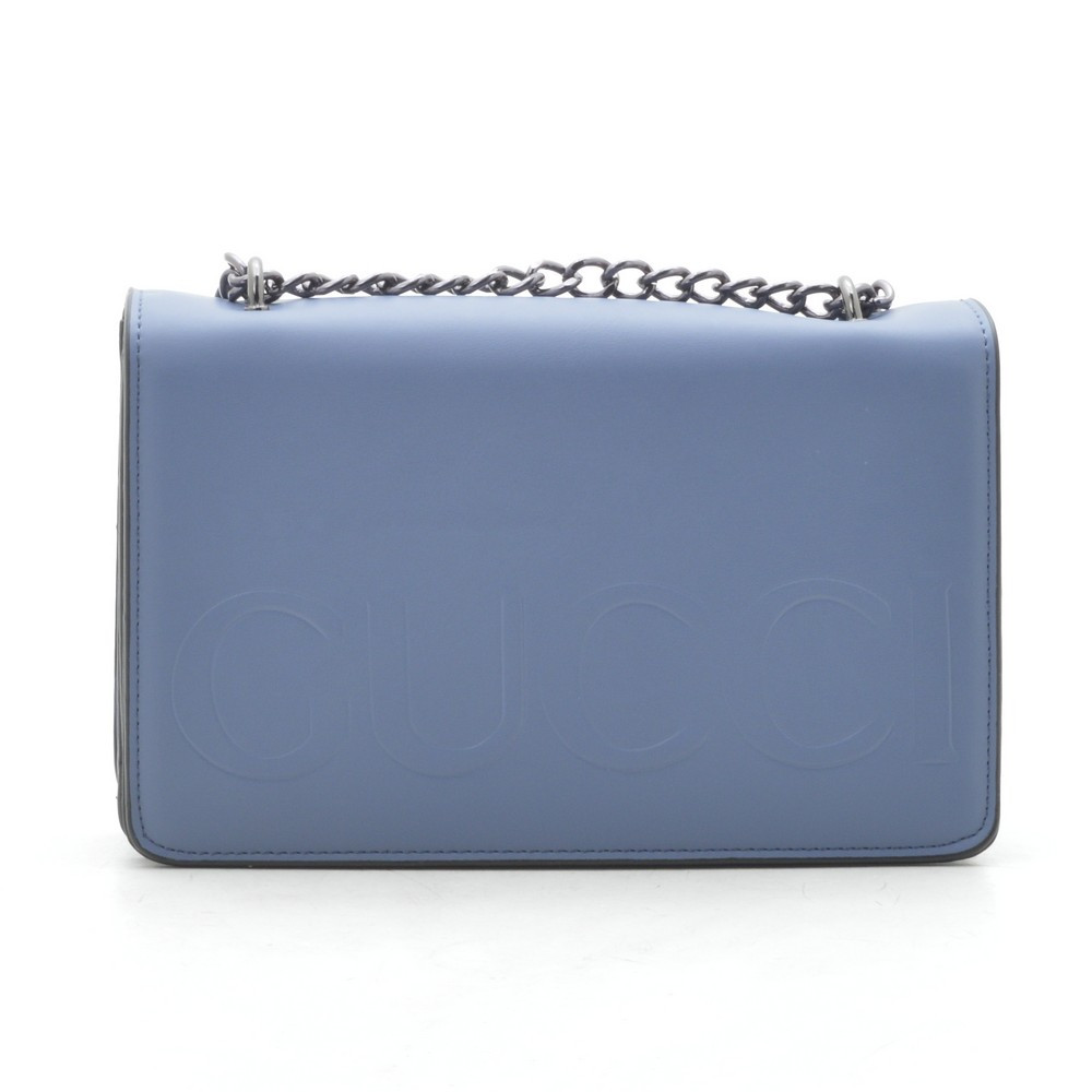 Клатч женский Gucci синий на цепочке 192037