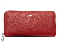 Женский кожаный кошелек -визитница 20*10*3 красный, фото 1