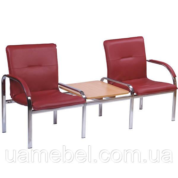 Мягкое кресло на 2 места + столик Стафф 2Т (STAFF 2 Т)