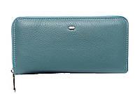 Женский кожаный кошелек -визитница 20*10*3 голубой, фото 1