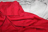 Ткань ангора класическая вязка красная,  полосы 2,5 см люрекса в тон ( не контрастно), фото 1