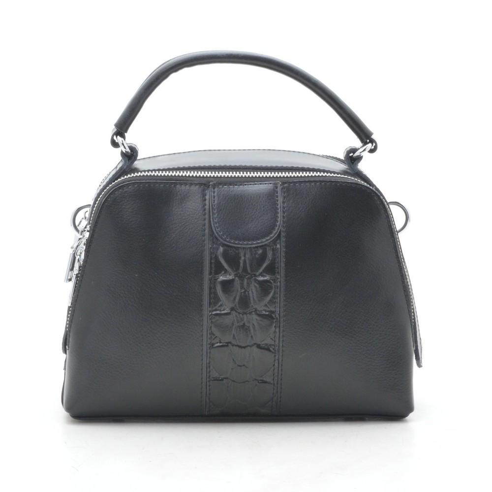 Клатч женский кожаный черный 193747