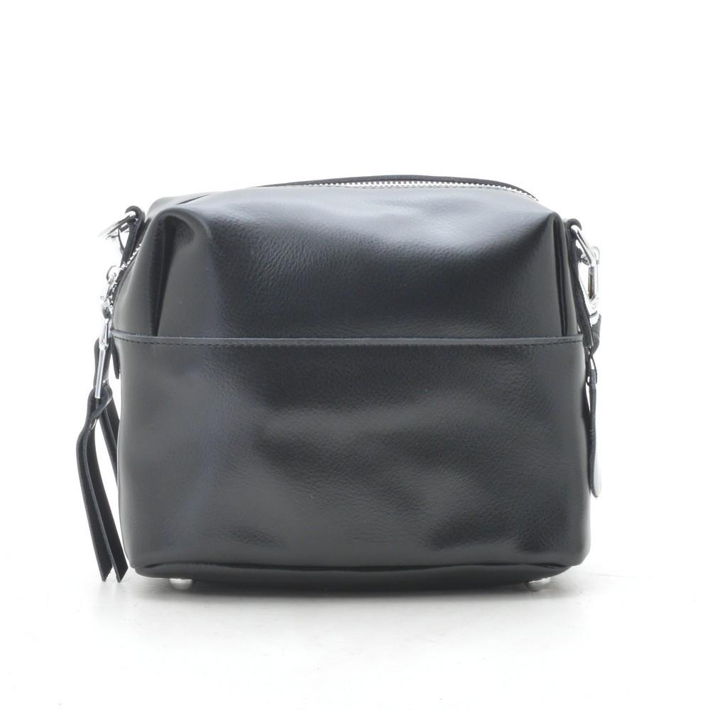 Клатч женский кожаный черный 193783