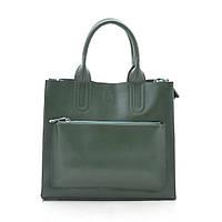 Женская сумка кожаная зеленая 188151, фото 1