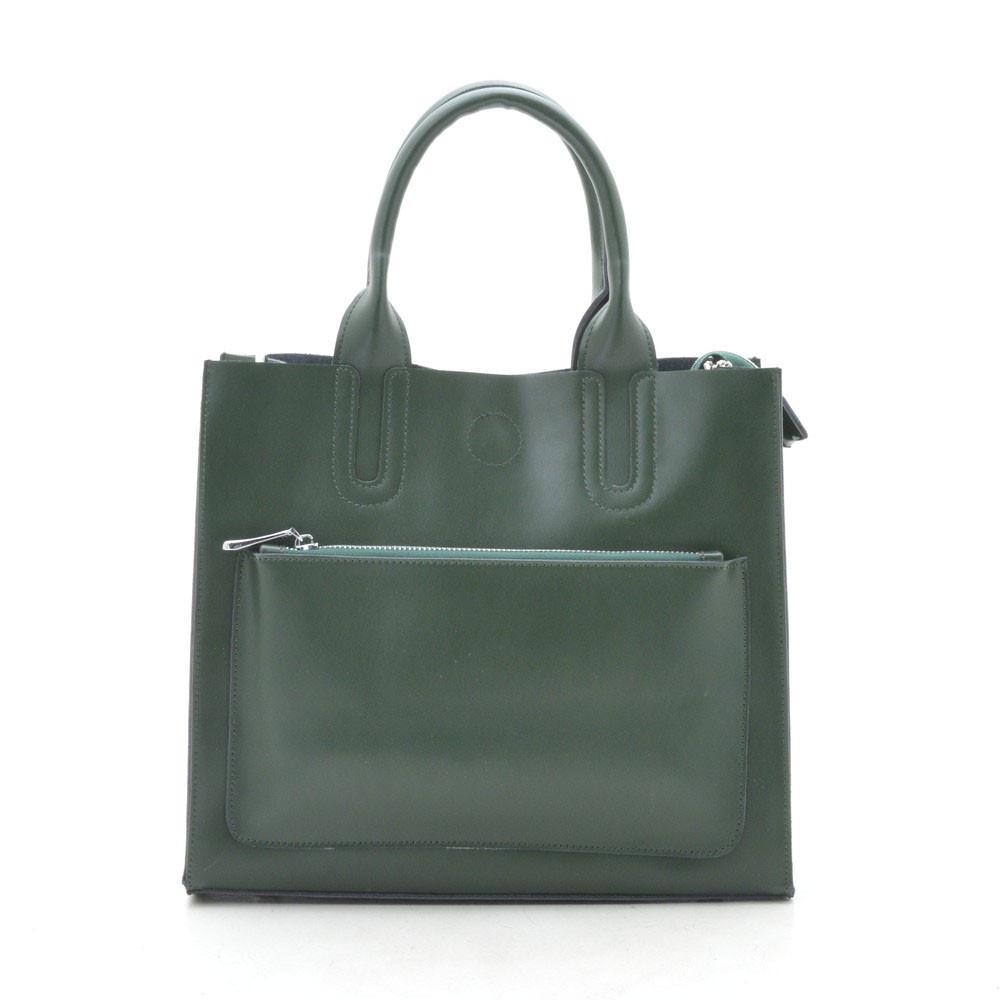 Женская сумка кожаная зеленая 188151