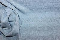 Ткань ангора класическая вязка , цвет голубой,  полосы 2,5 см люрекса в тон ( не контрастно), фото 1