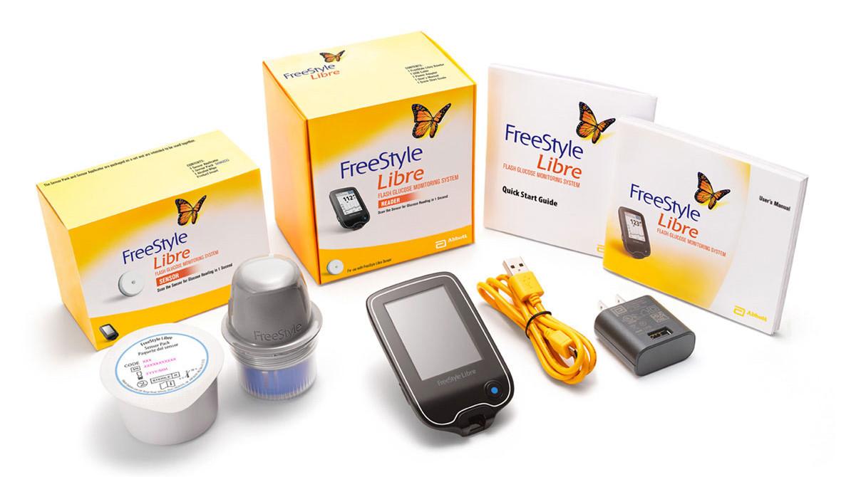 Сенсор и неинвазивный глюкометр Freestyle Libre США
