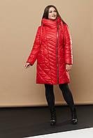 Женское практичное зимнее пальто больших размеров (52,54,56,58,60,62,64)