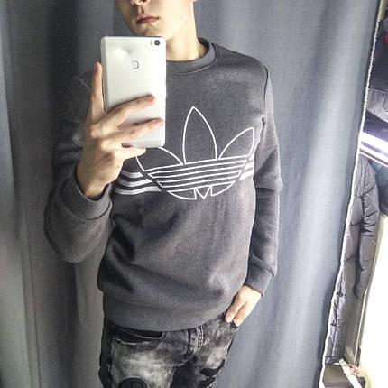 Свитшот мужской Adidas серая, фото 2