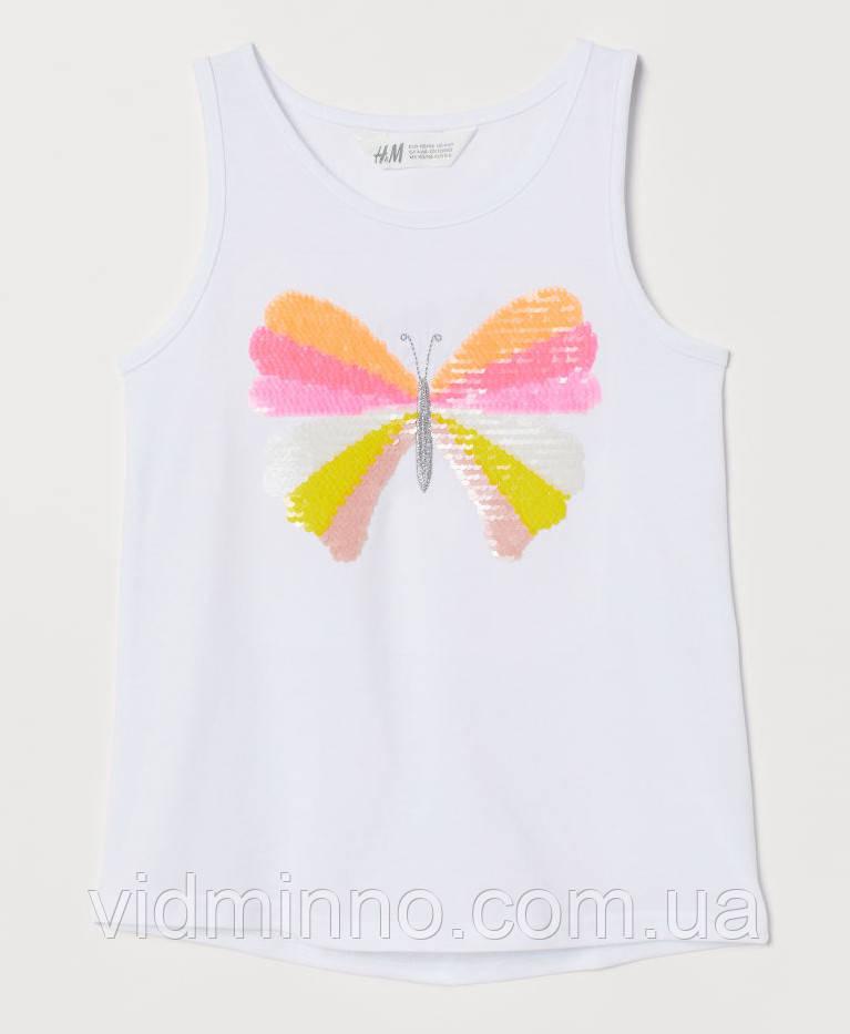 Майка для дівчинки Метелик H&M на зріст 104 см