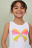 Майка для дівчинки Метелик H&M на зріст 104 см, фото 2