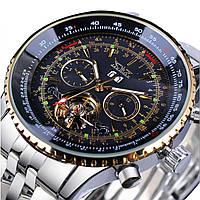 Механические часы с автоподзаводом Jaragar Luxury (gold-black)