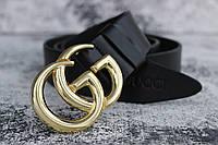 РеменьGucci кожаный пряжка золото 4 см