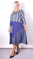 "Комбинированное платье Gloria Romana ""Коллаж"" size plus (р.66-68)"