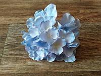 Голова гортензии (18 см) - голубая