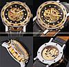 Механические часы Winner Simple Diamonds (black-gold), фото 4