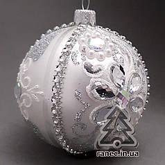 Стеклянный шар на елку Праздничный диаметр 100 мм