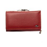 Женский кожаный кошелек  14*8,5*4 красный, фото 1