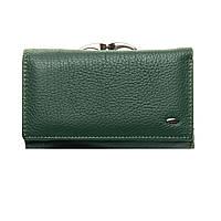 Женский кожаный кошелек 14*8,5*4 зеленый, фото 1