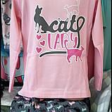 """Рожева піжама для дівчат """"Котик"""",4-5-6років, фото 3"""