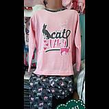 """Рожева піжама для дівчат """"Котик"""",4-5-6років, фото 2"""