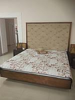Ліжко (кровать)  з масиву дерева(ясен) з м'якою частиною.
