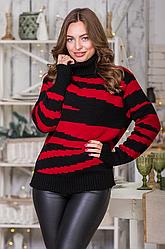 Вязаный женский свитер «Тирамису»