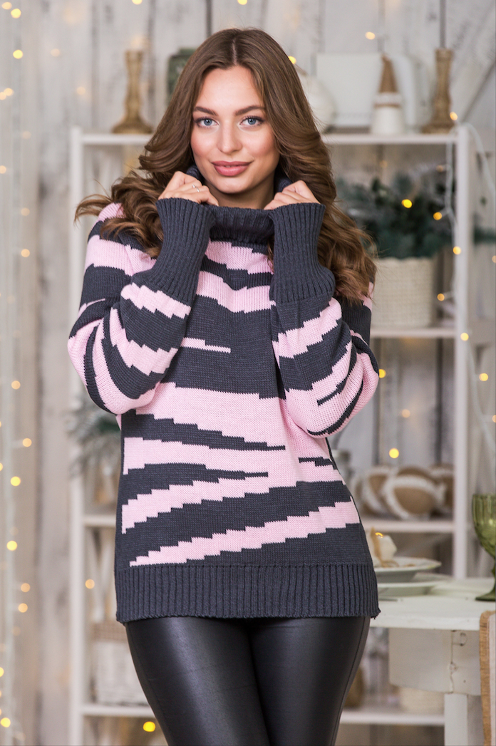 Женский вязаный свитер «Тирамису»