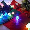 Новогодняя гирлянда 28  LED Мульти шишка 3 метра