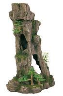 Декорация для аквариума Trixie Скала с пещерой и растениями 17х13х28,5 см