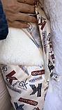 Джинсовая куртка парка с натуральным мехом ламы на капюшоне, фото 7