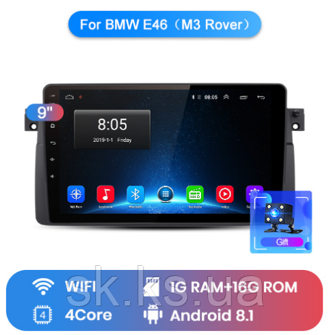 Junsun 4G Android магнитола для BMW E46 (M3 Rover)  wifi
