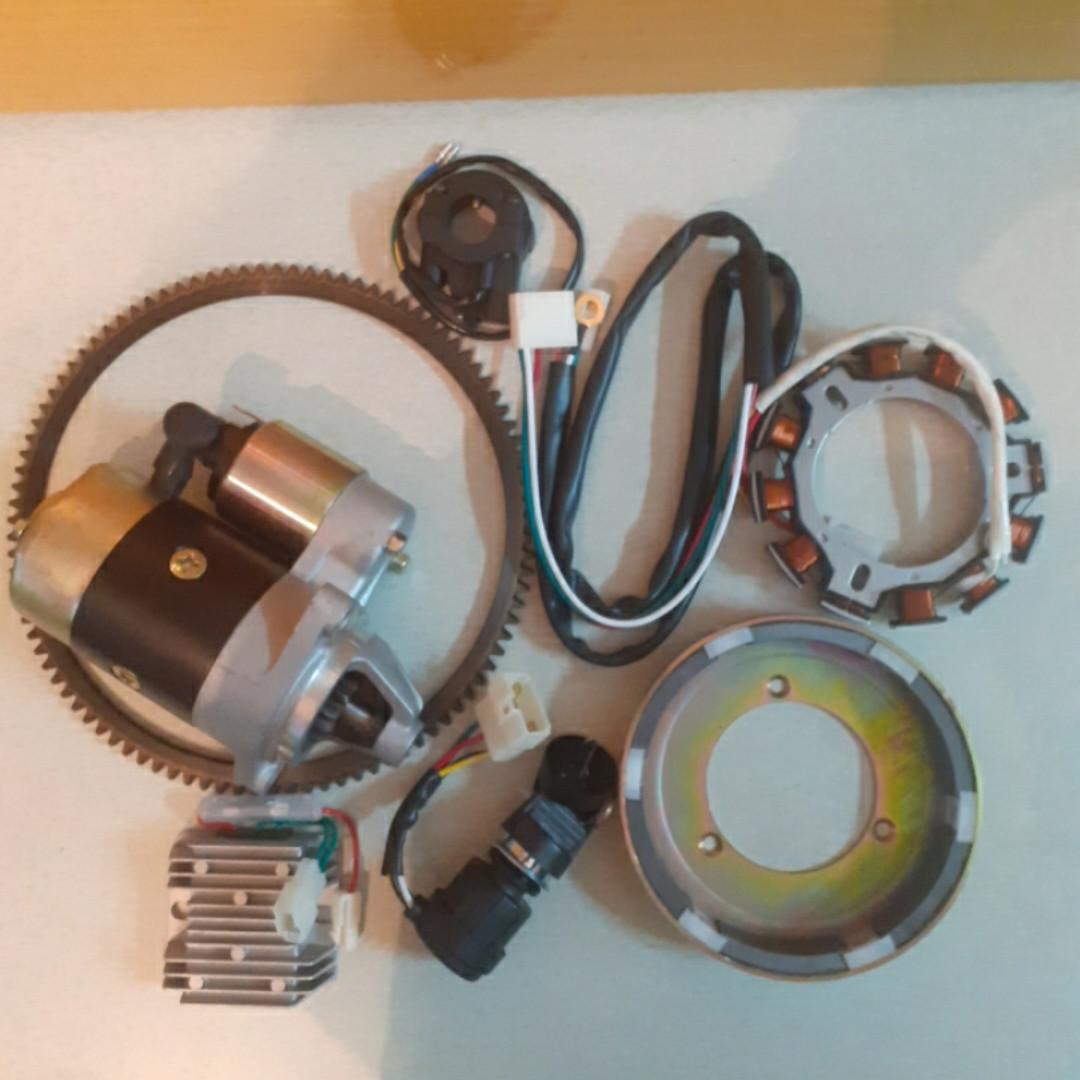 Набор для переоборудования мотоблока на электростартер полный 178f