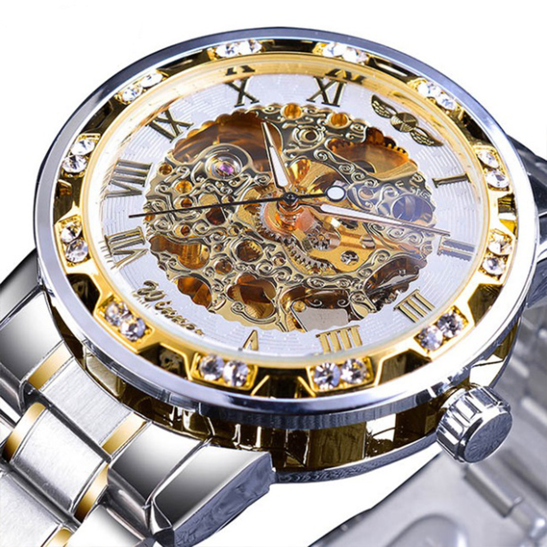 Механические часы Winner Diamonds (gold-white)