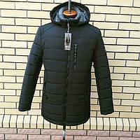 Зимние куртки и пуховики мужские на меху больших размеров Украина . Цвет черный.