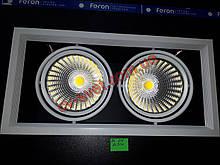 Карданний світильник Вбудований Feron AL212 2x30w 365х185х130 мм (біла рамка)
