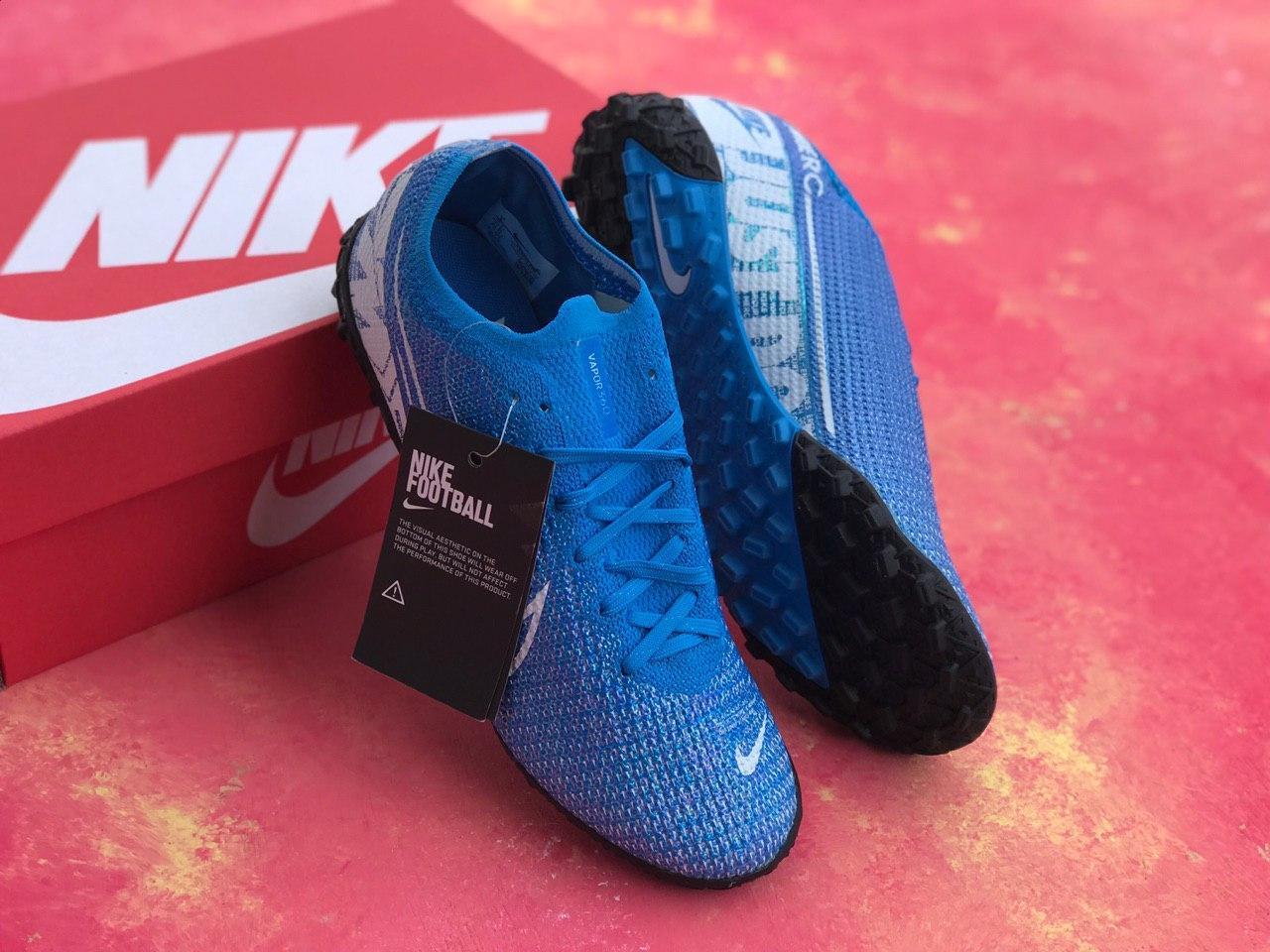 Сороконожки футбольные Nike Mercurial Vapor 13 Academy TF Синие