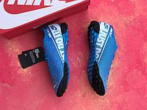 Сороконожки футбольные Nike Mercurial Vapor 13 Academy TF Синие, фото 3