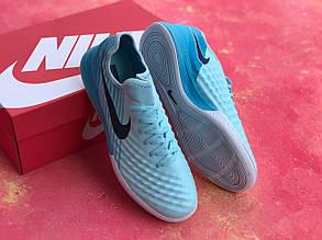 Футзалки голубые Nike Magista TF футбольная обувь