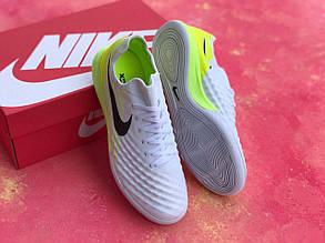 Футзалки белые Nike Magista TFфутбольная обувь