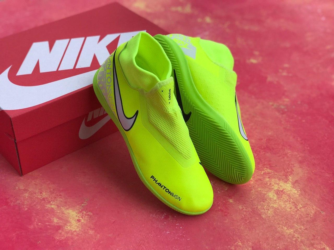 Футзалки лимонные Nike Phantom Vision Academy Dynamic Fit IC футбольная обувь