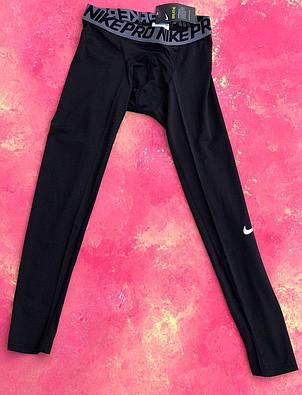Термо-штаны мужские Nike Pro 2019 компрессионные штаны термобелье, фото 2